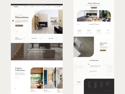 Northern Wide Plank Design product curvy contrast floor wood interior style new homepage web design e-commerce clean