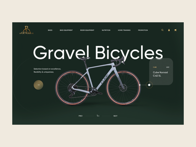 Le Cercle - Homepage Concept luxury modern shopify bikes leisure sport bicycles product homepage web ux ui design e-commerce clean