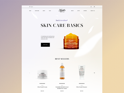 Kiehl's - Homepage Concept beauty web e-commerce style ux design ui shopify skincare skin product new