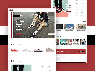 Little Burgundy Hero white web ux ui homepage hero fashion e-commerce design contrast clean black