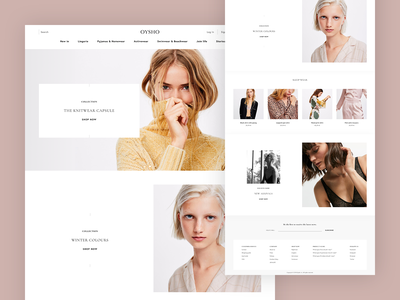Oysho Redesign redesign hero product typography banner fashion homepage contrast ux white ui web e-commerce design clean