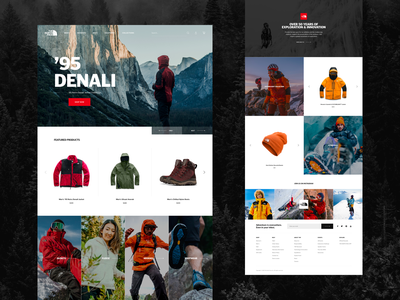 The North Face Redesign redesign product hero fashion homepage ux web e-commerce design clean