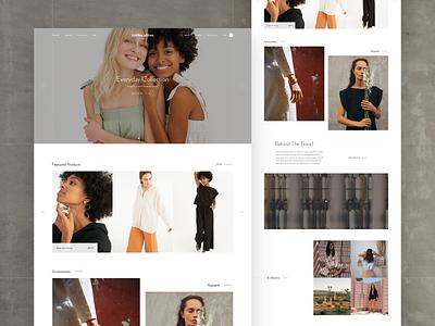 Tribe Alive Redesign fashion contrast white homepage ux ui web e-commerce design clean