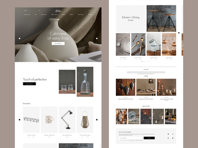 Nkuku Redesign white product contrast homepage ux ui web e-commerce design clean