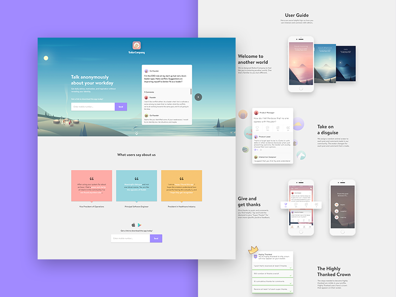 BetterCompany Landing Page by Omar Amin for BetterCompany on Dribbble