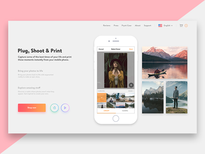 Prynt Landing Page Redesign Concept