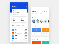Coinbase Wallet Exploration cryptocurrency blockchain app mobile pay explore message chat tokens bitcoin crypto