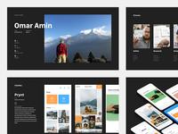 Interview Presentation Deck product web summary process keynote powerpoint minimal design pitch simple dark slides