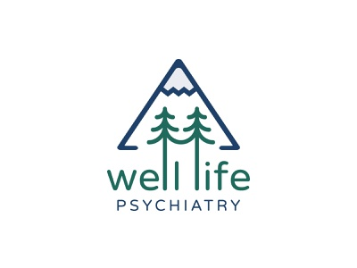 Well Life Psychiatry Logo logo design logo