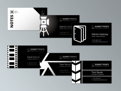 Summit Pointe Productions Business Cards branding