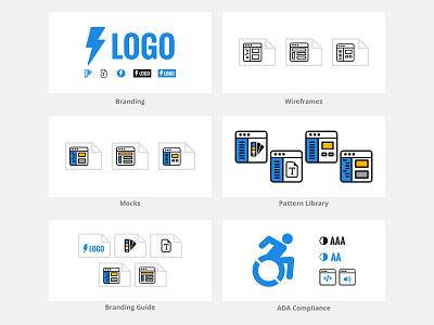 UI/UX Deliverables Illustrations icons illustration