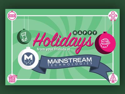 Mainstream Holiday Card 2017 illustrator holiday card