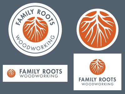 Family Roots Woodworking Branding branding logo