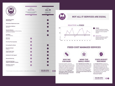 Managed Services One Sheet monochrome managed services print