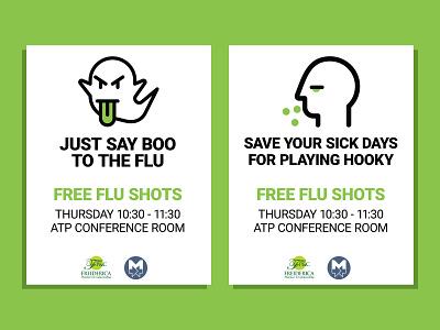 Flu Shot Posters illustrator print design posters flu shots