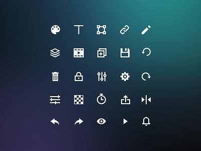 Custom App Icons custom perfect pixel ux ui interface meleg gery design set icons bannersnack