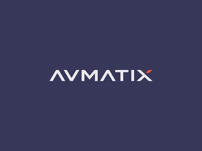 Avamatix Logo romania meleg gery identity brand letter custom modern design logo avmatix