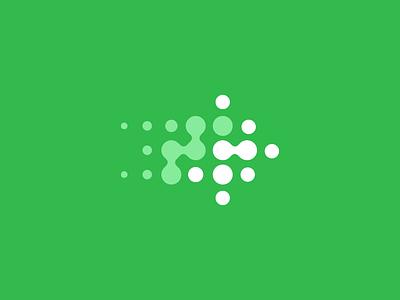 Evonade logo design symbol mark branding icon evolution arrow movement modern logo design