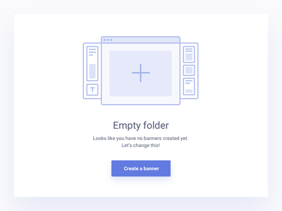 Empty screen bannersnack folder new create new graphic screen empty
