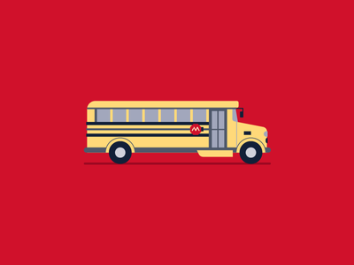 Bus icon mortgage typography vector elementary school elementary learning school bus branding logo illustration design iconography icons charter education kids bus school movement