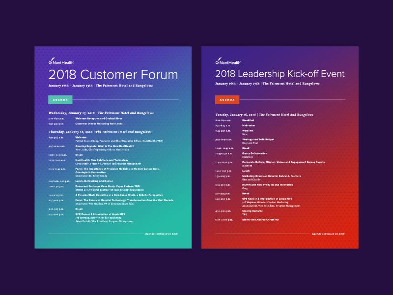 Agenda agenda nanthealth event kickoff forum customer 2018 leadership