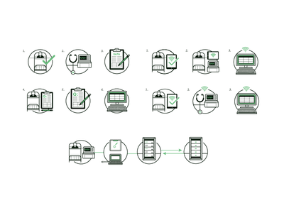 CC paperwork mobile medical data computer server design technology iconography icon icons illustration hospital healthcare patient nanthealth vitals device care connected