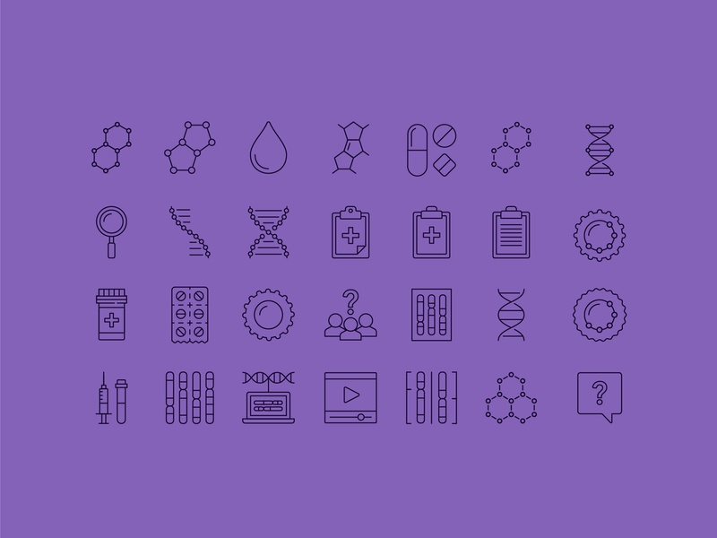 Icons pills data cells cancer blood liquid icon iconography icons medical healthcare medicine vaccine question t cell protein rna dna molecular molecule