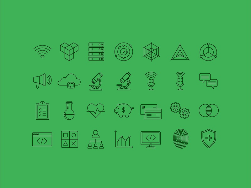 Icons savings credit cards science iconography icons icon gears credit card wifi server cloud microscope shield fingerprint diagram heart money cancer logo design