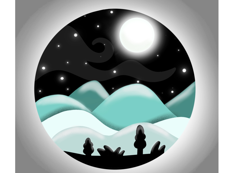 Nightscape digitalpainting digitalart illustration procreate landscape nightscape