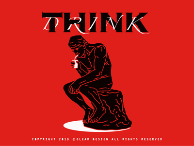 THINK/drink interesting gleam design adobe people outdoor young 2d alone illustration
