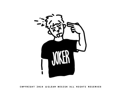 joker joker interesting gleam design adobe people 2d alone illustration