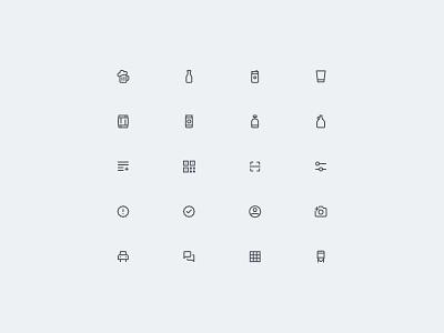 Untappd Custom Icons ux ui icon design icon set icons