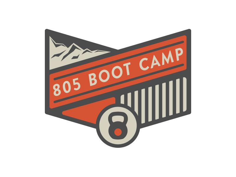 805 Boot Camp Logo logo branding fitness outdoors