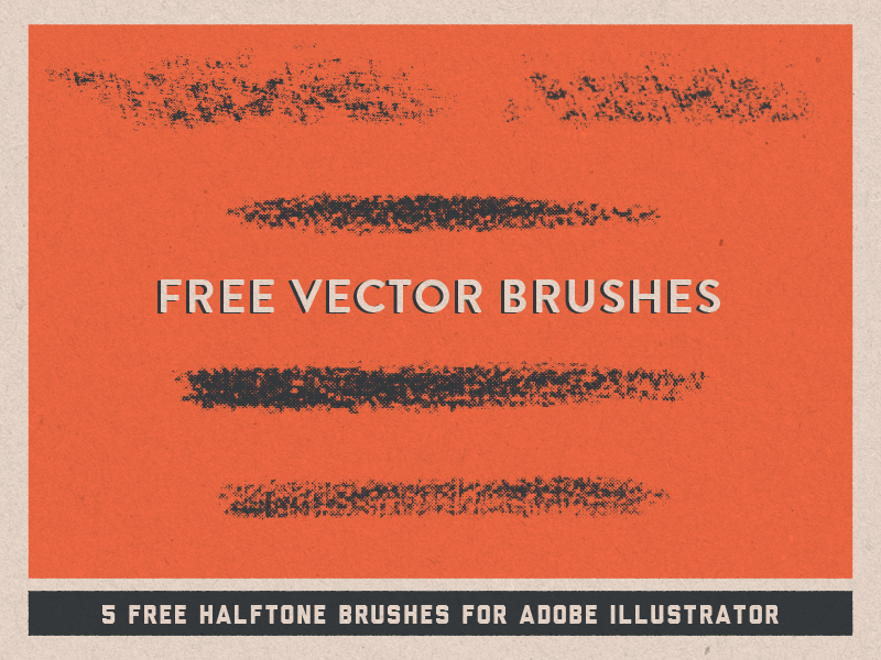FREE Halftone Vector Brushes creativemarket pattern retro vintage design texture halftone vector brushes illustrator free