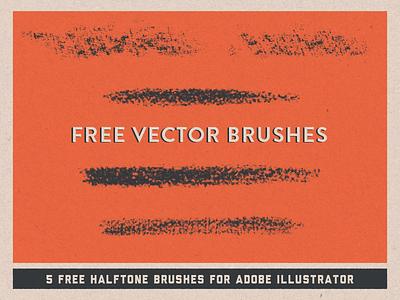 FREE Halftone Vector Brushes creativemarket pattern retro vintage design texture halftone vector brushes illustrator free