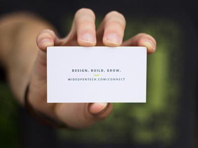 WOT Business Cards tech print design business cards letterpress