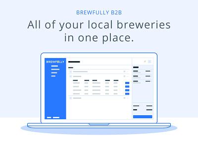 Brewfully B2B vector marketing dashboard web app design tech craft beer illustration