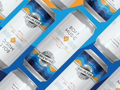 Wilmington Brewing Company Boat Music Pale Ale dieline packaging design label design beer craft beer