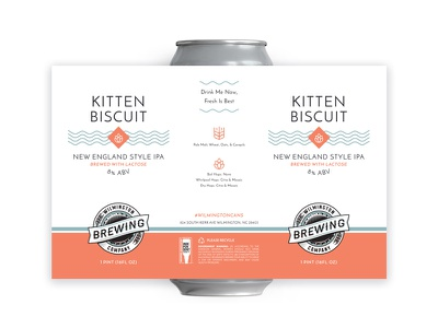 Kitten Biscuit New England Style IPA dieline packaging package design print label design craft beer beer