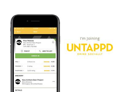 Joining Untappd mobile app craft beer beer app design ui  ux ui joining untappd
