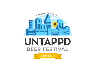 Untappd Beer Festival Level 1 craftbeer beer branding logo