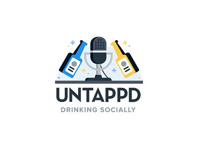 Untappd Drinking Socially Podcast vector illustration branding logo