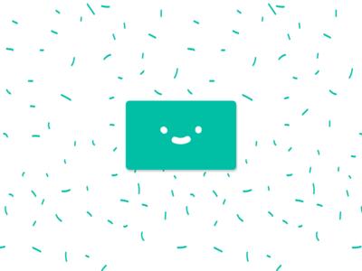 Happy card icon