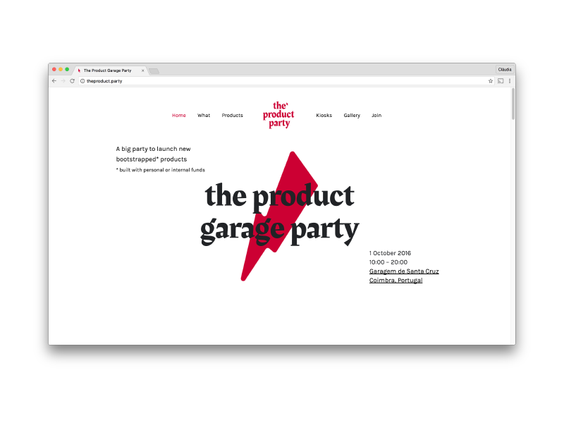 The product party website ⚡️ event website landing landing page