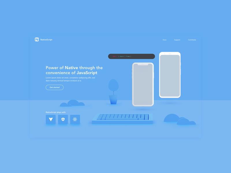 Dev tool iphone pixel hero webdesign website 3d