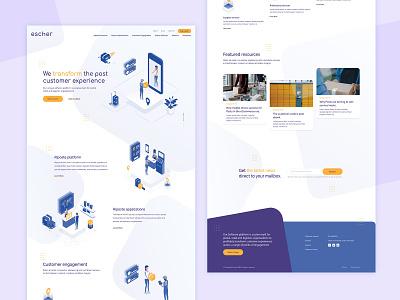 Software illustration website design webdesign clean ui website