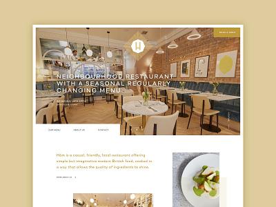 Restaurant site london ux ui website food restaurant