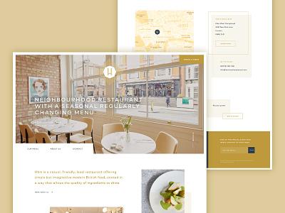 Keeping it fresh gold type website design webdesign bright ui clean website