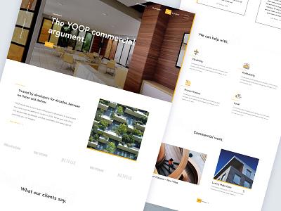 Architect site modernist clean ui webdesign architecture architect