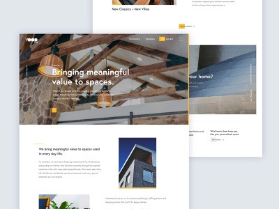 Architect architecture bright type clean ui website